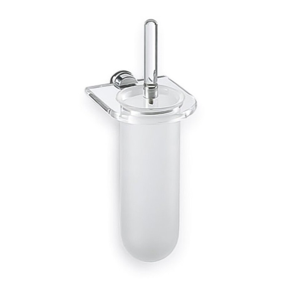 Nameeks Giglio Clear/Frosted Plastic Toilet Brush Holder