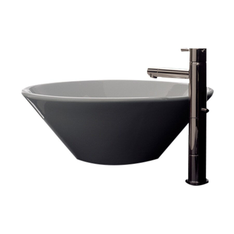 Nameeks Scarabeo Cono White Vessel Round Bathroom Sink