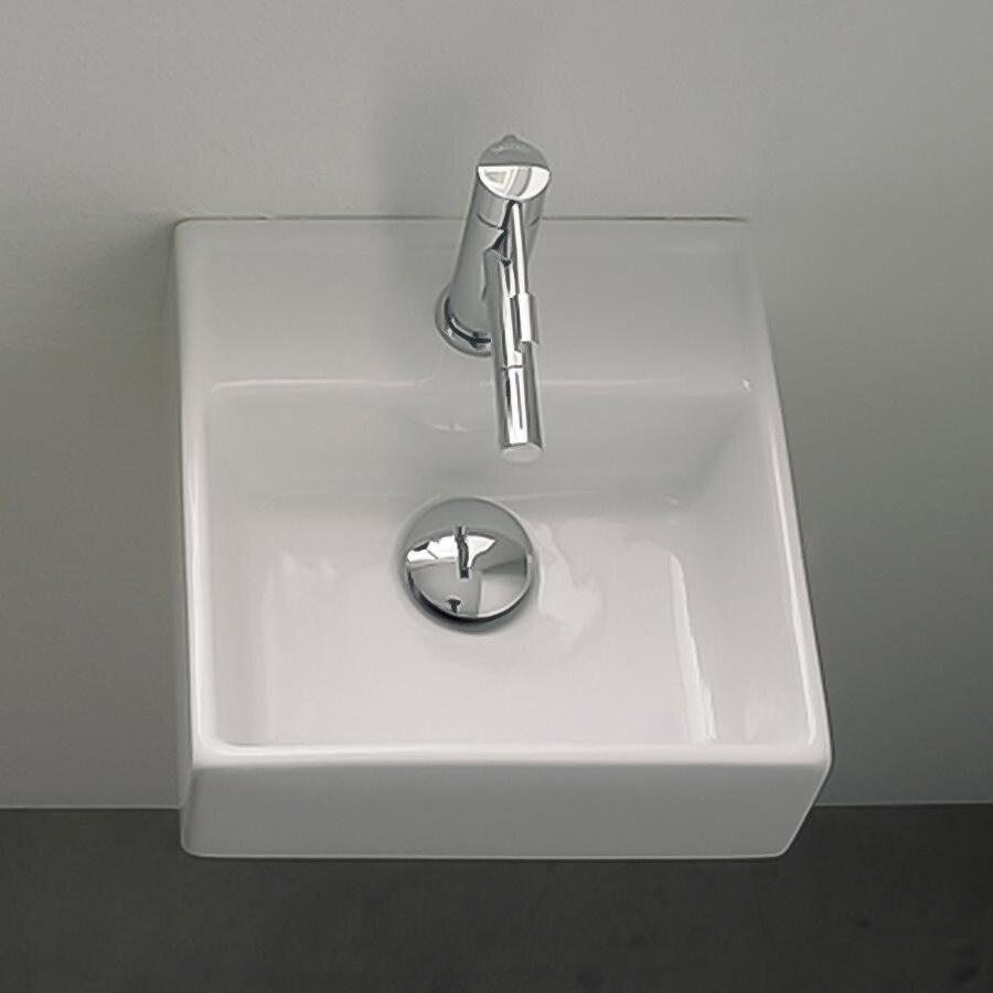 Nameeks Scarabeo Teorema White Wall-Mount Square Bathroom Sink