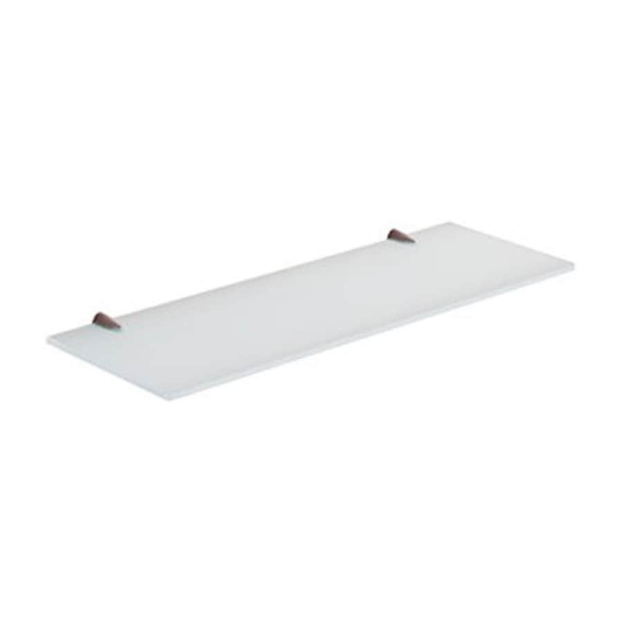 Shop Nameeks Artemis 1-Tier Frost Glass Bathroom Shelf at Lowes.com