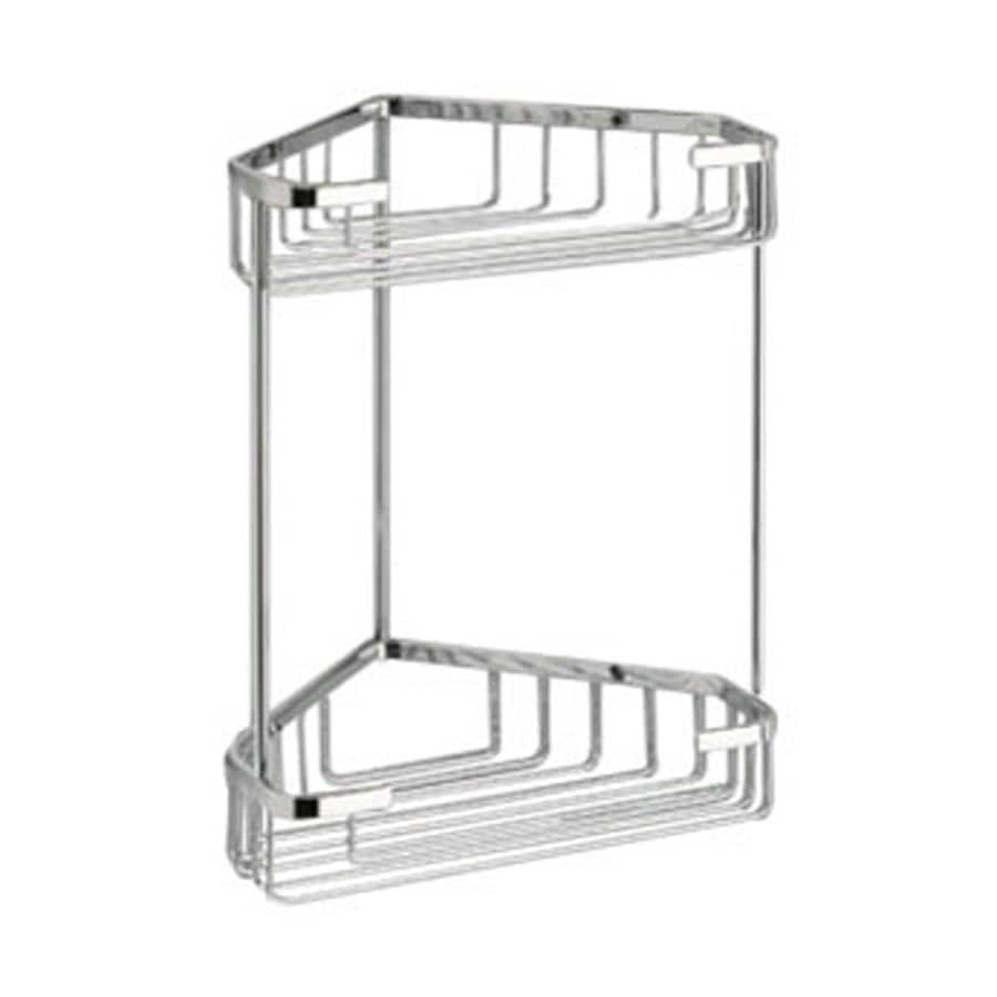 Nameeks 10.6-in H Screw Mount Stainless Steel Polished Chrome Hanging Shower Caddy