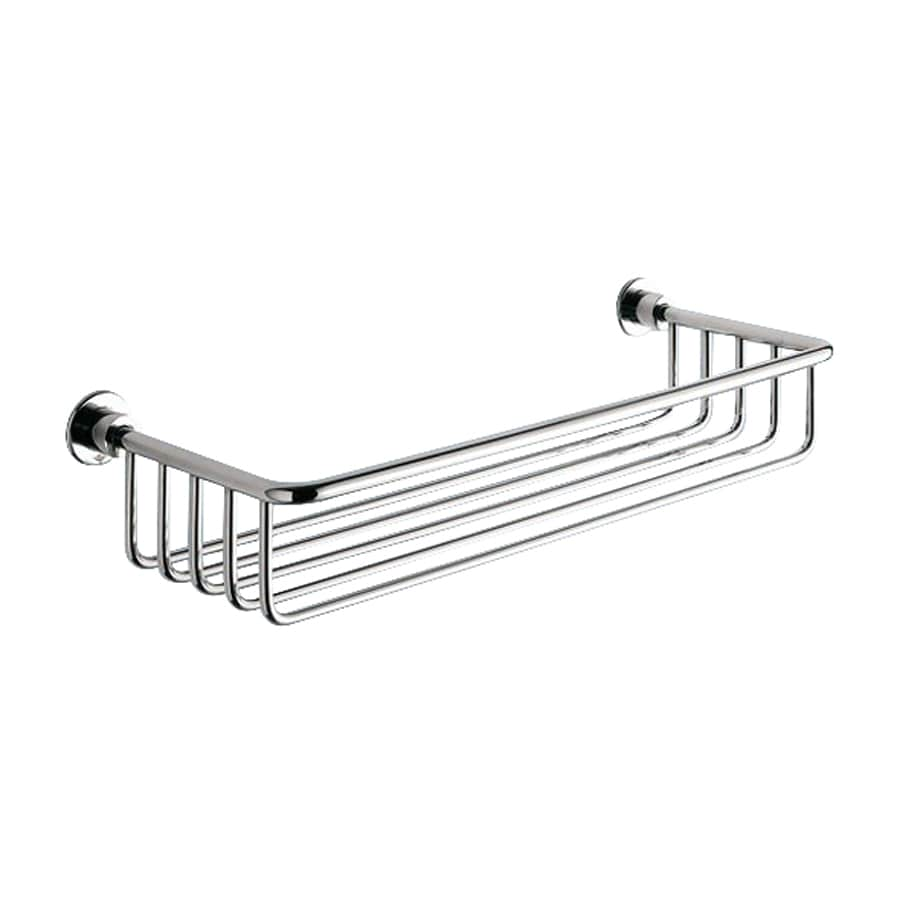 Shop Nameeks 1-Tier Polished Chrome Brass Bathroom Shelf at Lowes.com