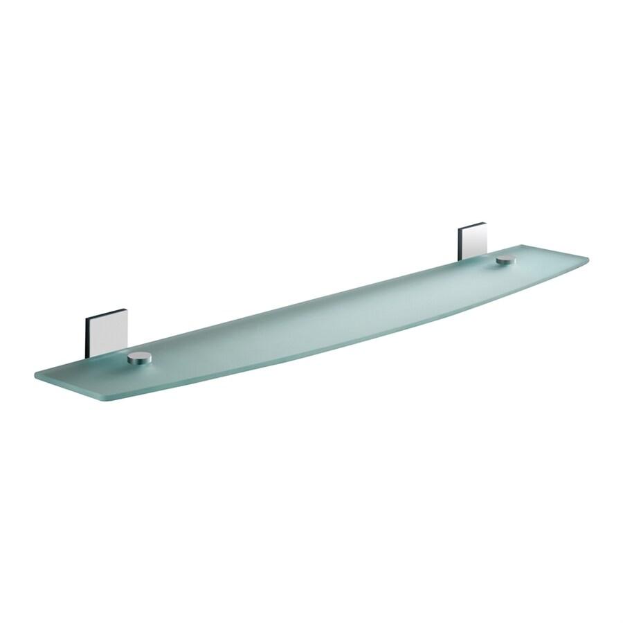 Nameeks Maine 1-Tier Chrome Glass Bathroom Shelf