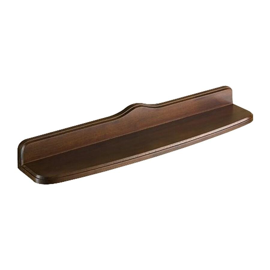 Nameeks Montana 1-Tier Old Walnut Wood Bathroom Shelf