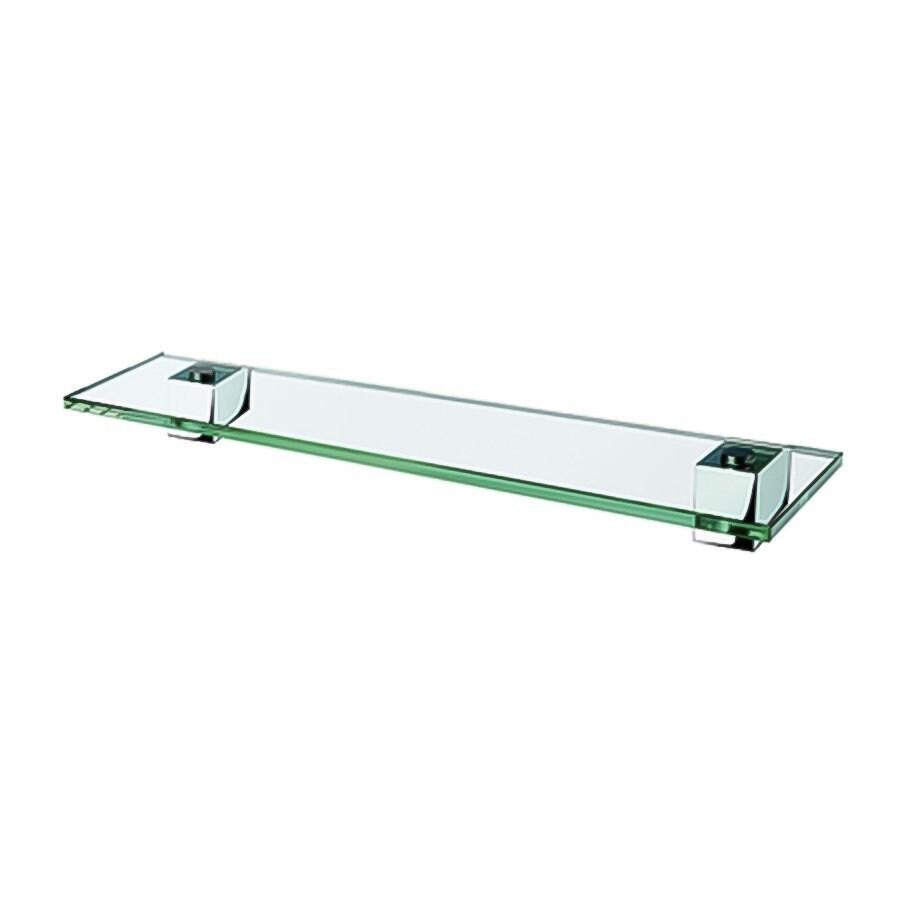 Nameeks Nexx 1-Tier Chrome Glass Bathroom Shelf