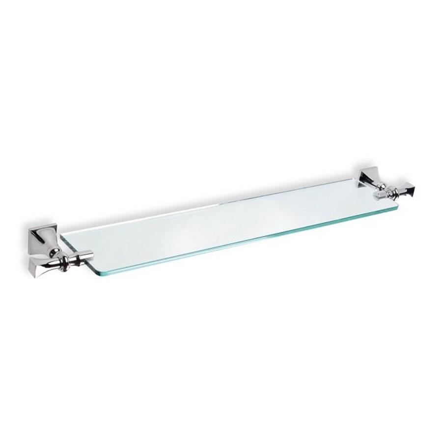 Nameeks Prisma 1-Tier Chrome Glass Bathroom Shelf