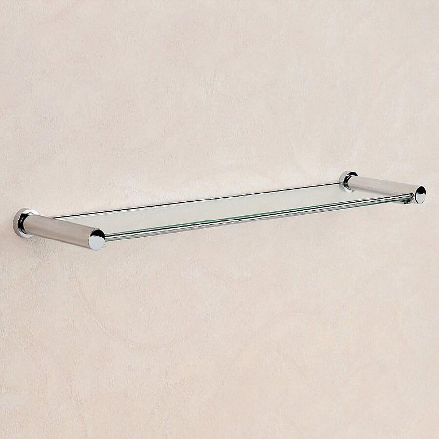Nameeks Windisch 1-Tier Chrome Glass Bathroom Shelf