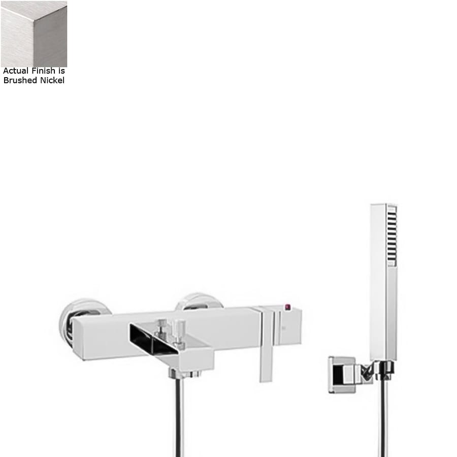 Nameeks Brick Chic Brushed Nickel 1-handle Bathtub and Shower Faucet with Valve