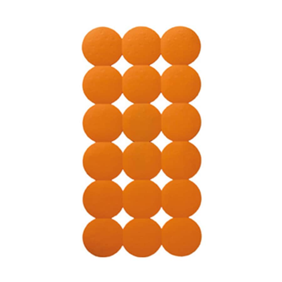 Nameeks Giotto 31.1-in x 15.55-in Orange Rubber Shower Stall Mat