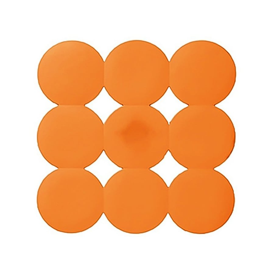 Nameeks Giotto 21.45-in x 21.45-in Orange Rubber Shower Stall Mat