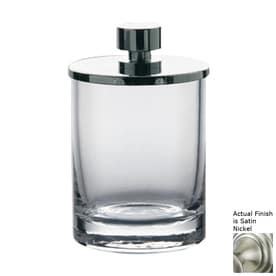 Nameeks Windisch Satin Nickel Glass Bathroom Canister