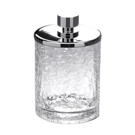 Nameeks Windisch Chrome Glass Bathroom Canister