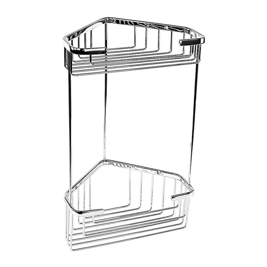 Nameeks 13-in H Screw Mount Composite Polished Chrome Hanging Shower Caddy