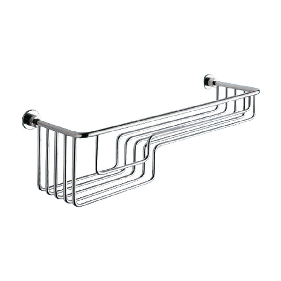 Nameeks 5-in H Screw Mount Composite Polished Chrome Hanging Shower Caddy