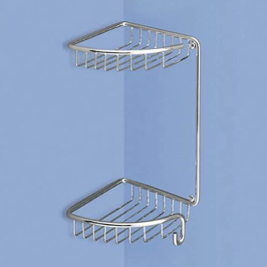 Nameeks 14-in H Screw Mount Solid Brass Polished Chrome Hanging Shower Caddy