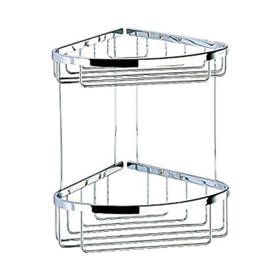 Nameeks 12-in H Screw Mount Solid Brass Polished Chrome Hanging Shower Caddy