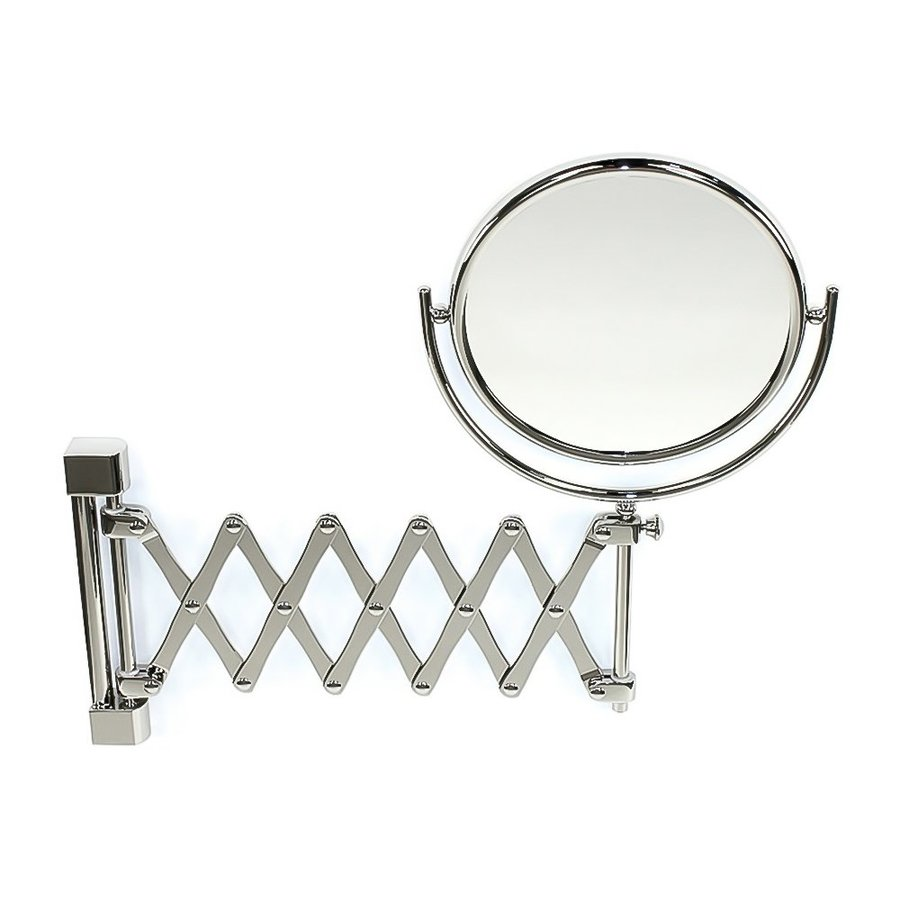 Nameeks Windisch Chrome Brass Magnifying Wall-Mounted Vanity Mirror