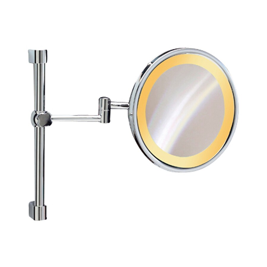 Nameeks Windisch Chrome Brass Wall-Mounted Vanity Mirror with Light