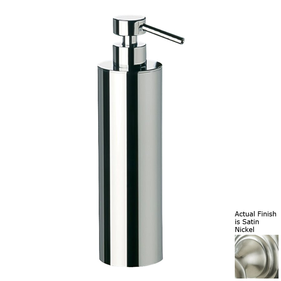 Nameeks Windisch Satin Nickel Soap and Lotion Dispenser