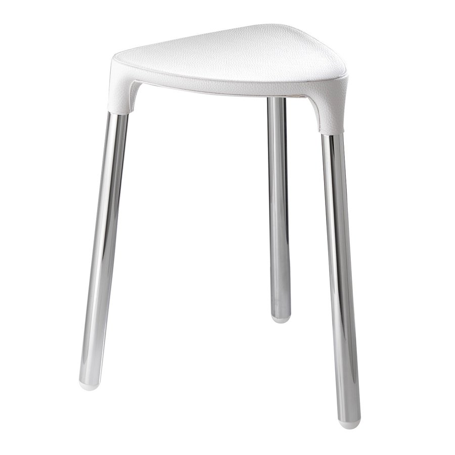 Nameeks White Composite Freestanding Shower Chair