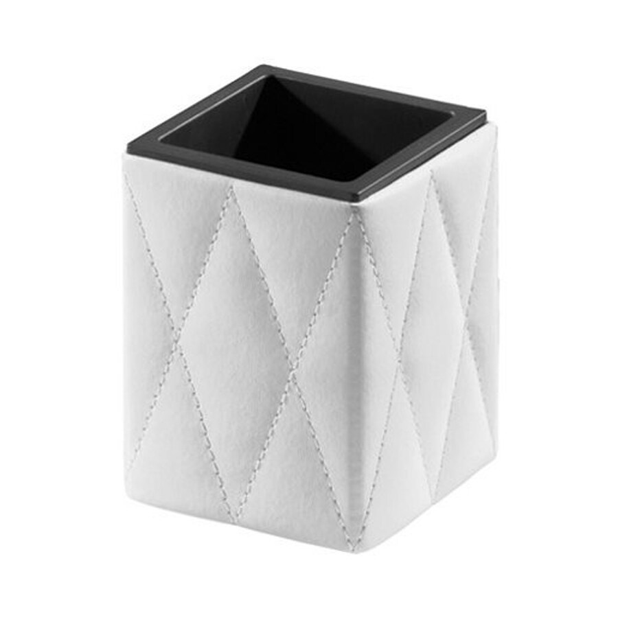 Nameeks Palace White/Black Faux Leather Tumbler