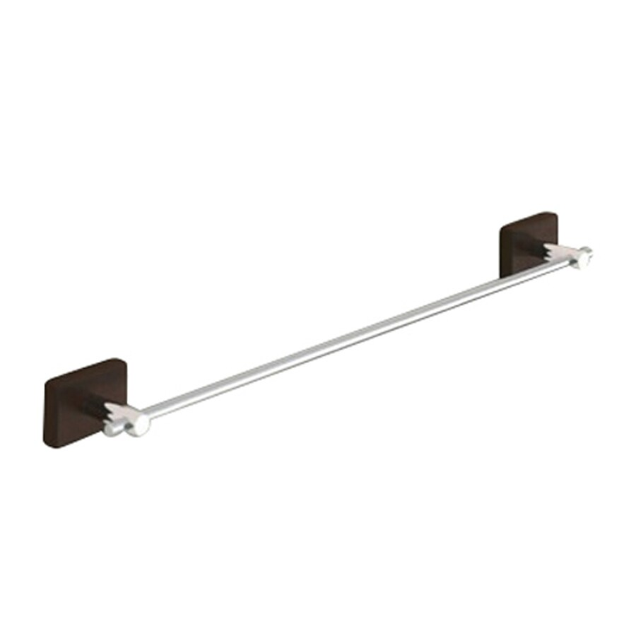 Nameeks Minnesota Wood Chrome Single Towel Bar (Common: 18-in; Actual: 18-in)