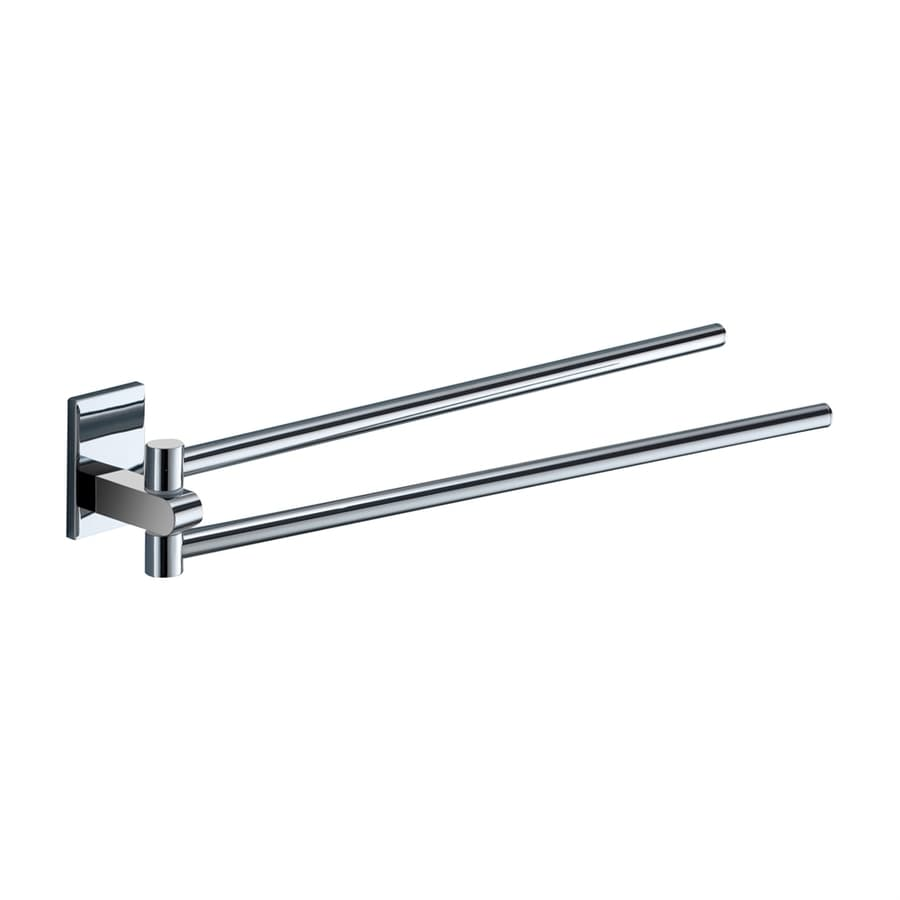Nameeks Maine Chrome Double Towel Bar (Common: 14-in; Actual: 14-in)