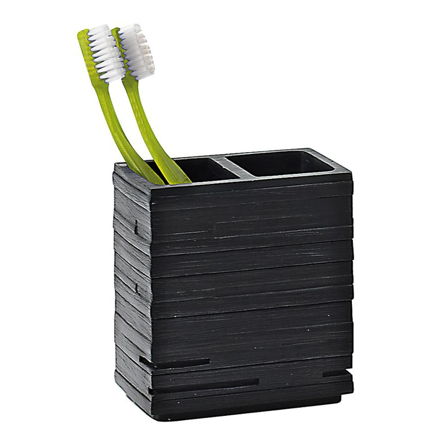 Nameeks Quadrotto Black Resin Toothbrush Holder