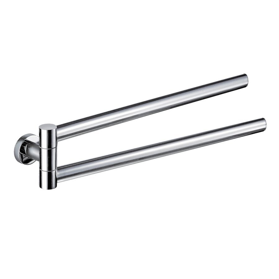 Nameeks Standard Hotel Chrome Double Towel Bar (Common: 16-in; Actual: 16.38-in)