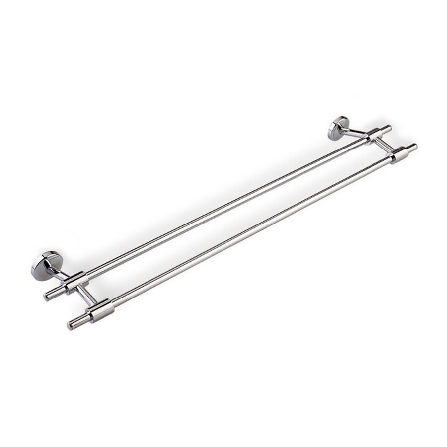 Nameeks Pegaso Chrome Double Towel Bar (Common: 24-in; Actual: 24-in)