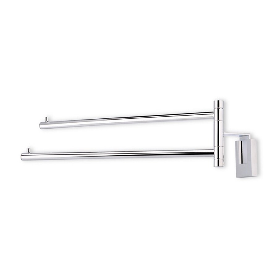 Nameeks Quid Chrome Double Towel Bar (Common: 13-in; Actual: 12.6-in)