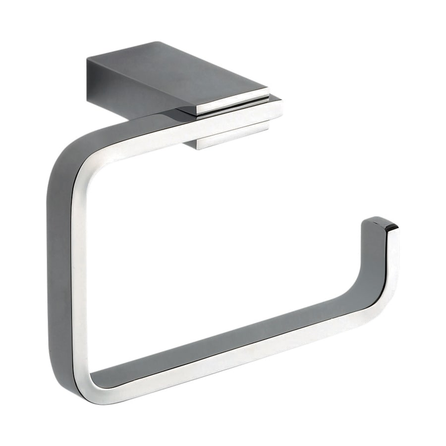 Nameeks Kansas Chrome Surface Mount Single Post with Arm Toilet Paper Holder