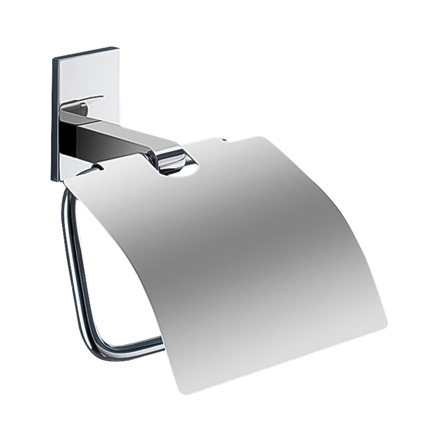 Nameeks Maine Chrome Surface Mount Single Post with Arm Toilet Paper Holder
