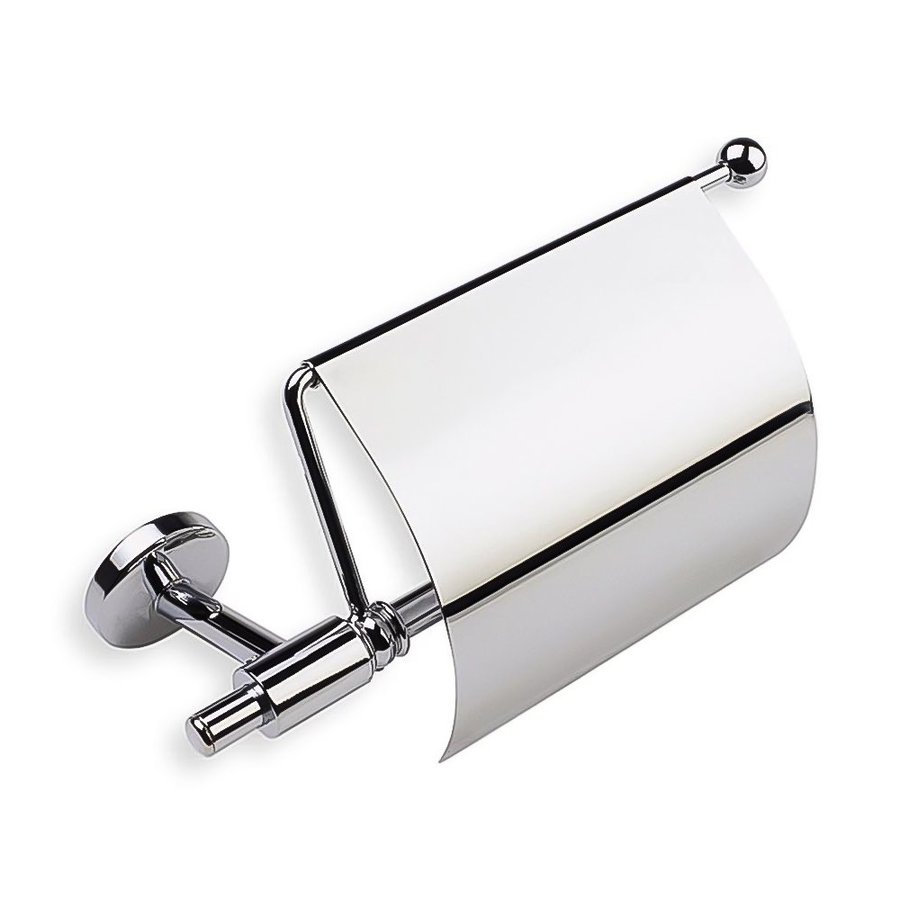 Nameeks Pegaso Chrome Surface Mount Single Post with Arm Toilet Paper Holder