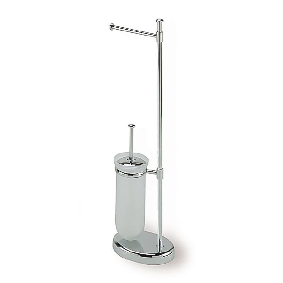 Shop nameeks pegaso chrome freestanding floor single post Toilet paper holder free standing