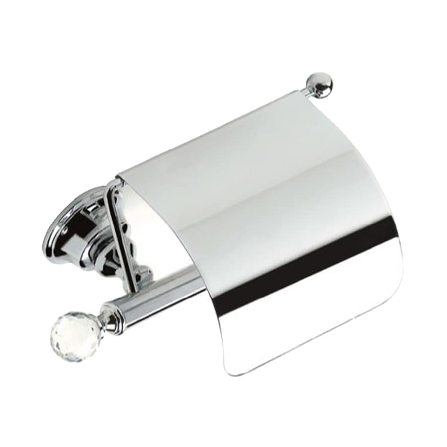 Nameeks Smart Light Chrome Surface Mount Single Post with Arm Toilet Paper Holder
