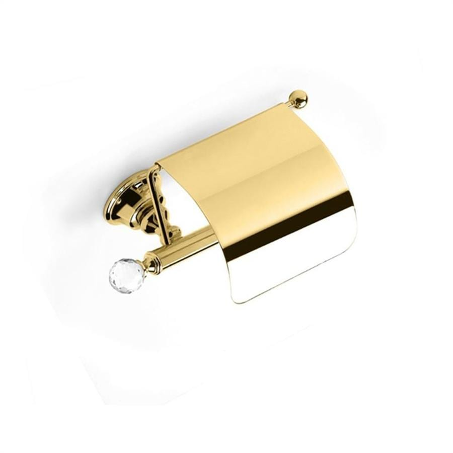 Nameeks Smart Light Gold Surface Mount Single Post with Arm Toilet Paper Holder