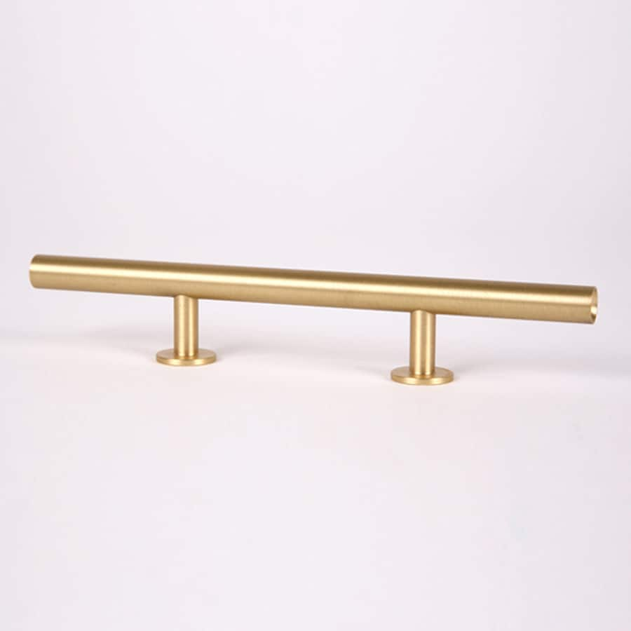 Lew's Hardware 3-in Center-To-Center Brushed Brass Round Bar Cabinet Pull