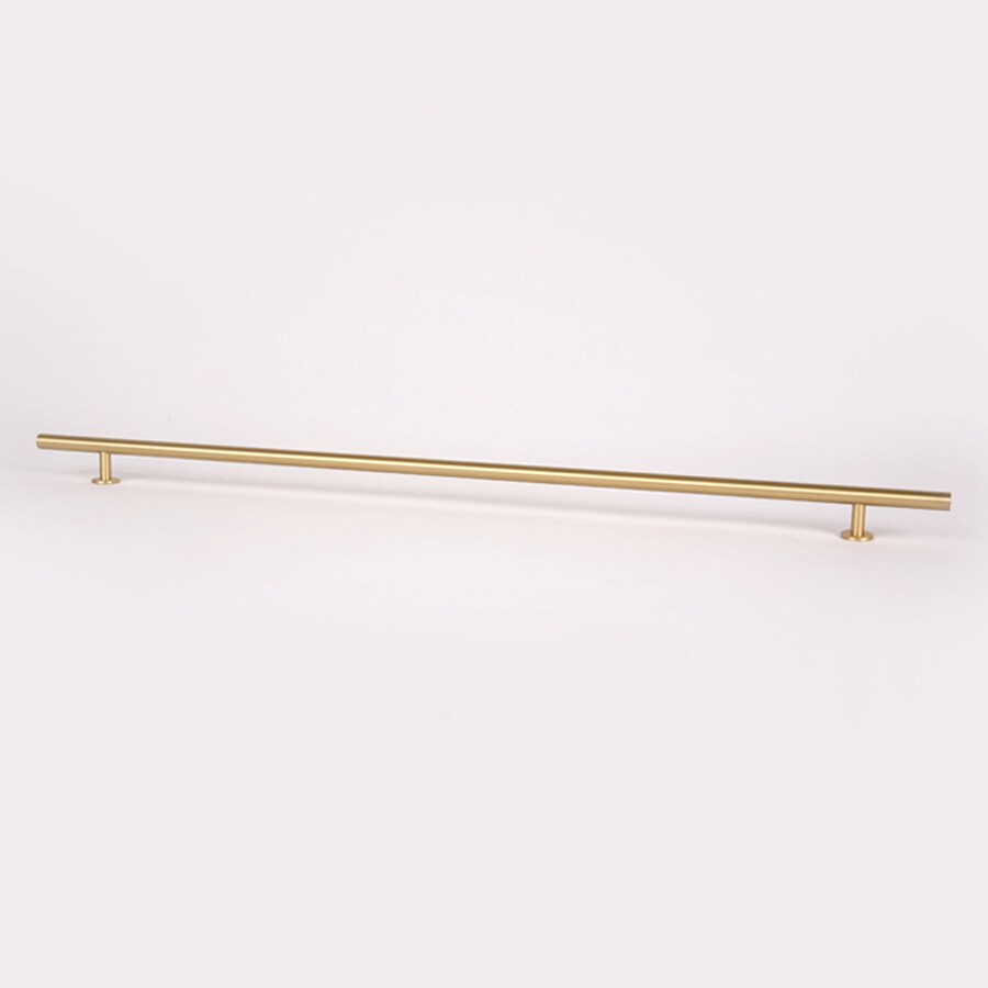 Lew's Hardware 20-in Center-To-Center Brushed Brass Round Bar Cabinet Pull