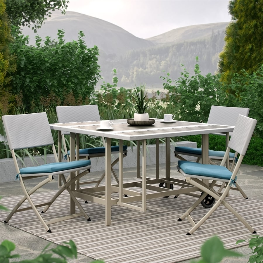 CorLiving Nantucket 5-Piece Taupe Plastic Patio Dining Set
