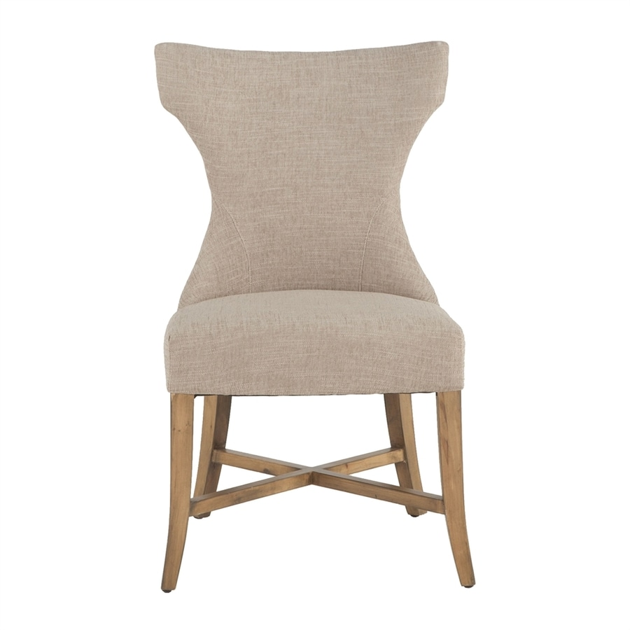 World Interiors Set of 2 Arabella Natural Side Chairs