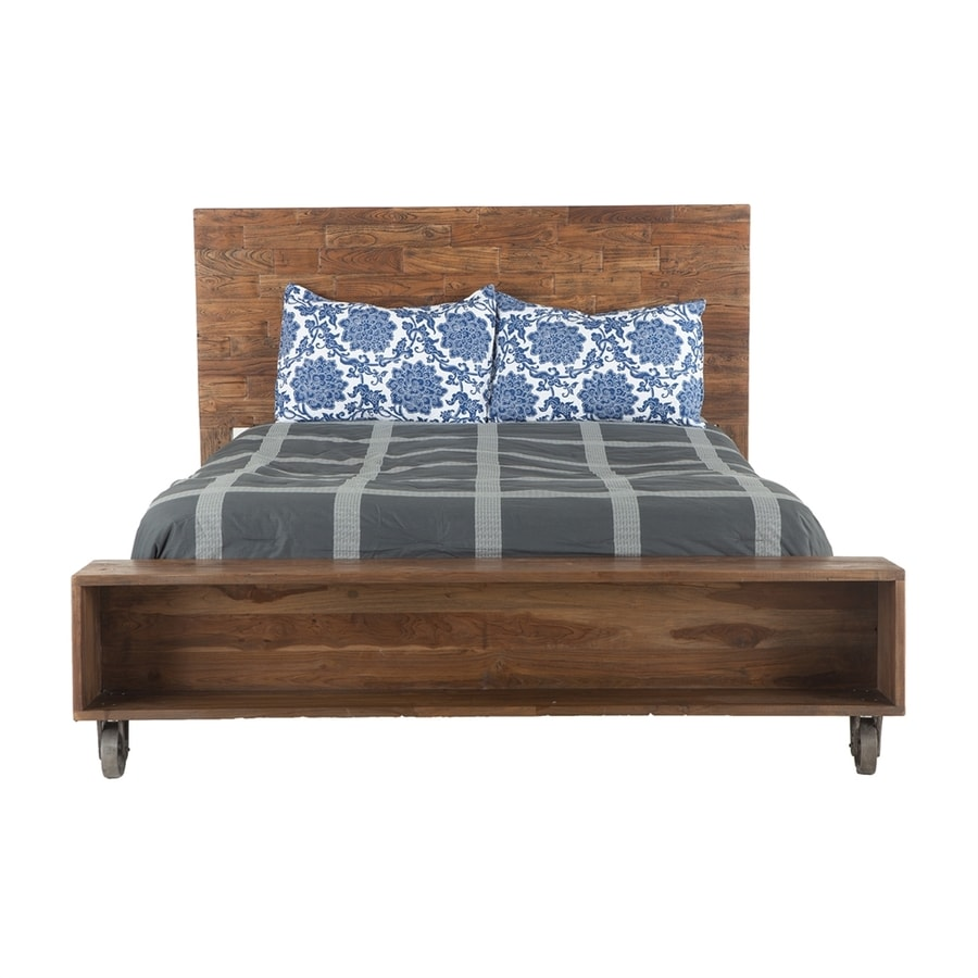 World Interiors Artezia Natural Teak Low-Profile Bed
