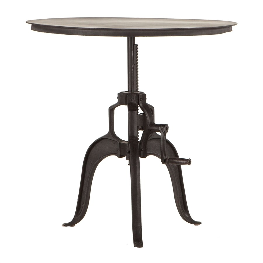 World Interiors Artezia Cast Iron Round Extending Dining Table