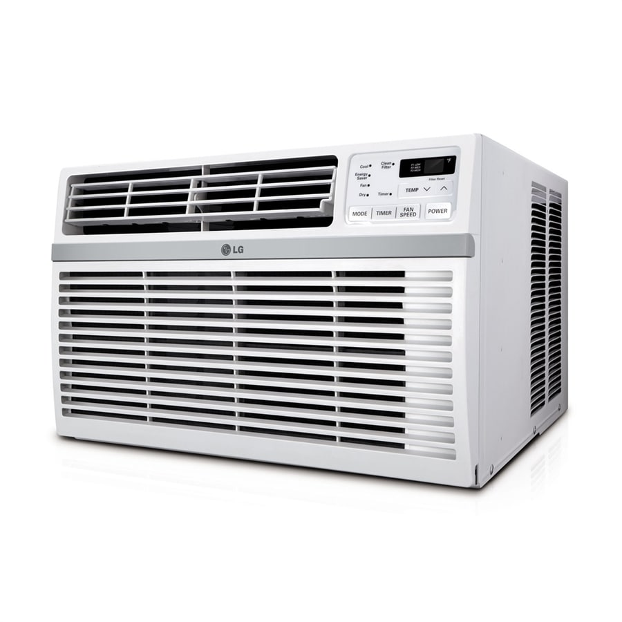 Shop lg 18 000 btu 1000 sq ft 230 volt window air for 18000 btu ac heater window unit
