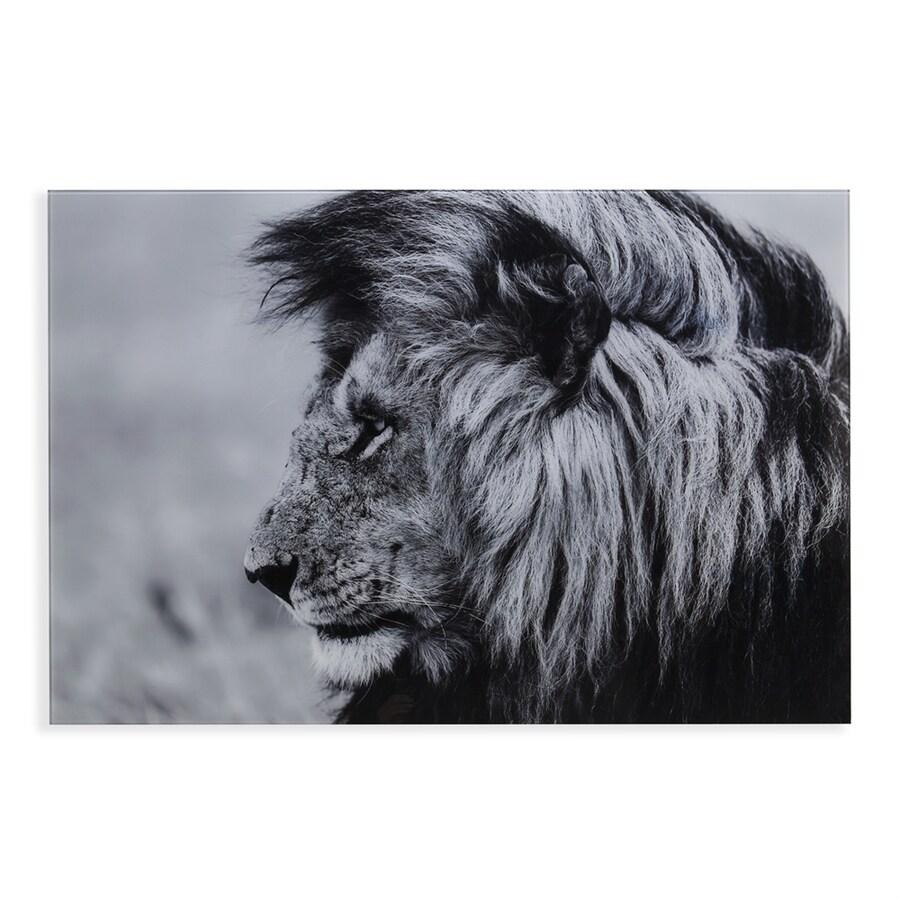 Boston Loft Furnishings Lion 47-in W x 32-in H Frameless Glass Print Wall Art