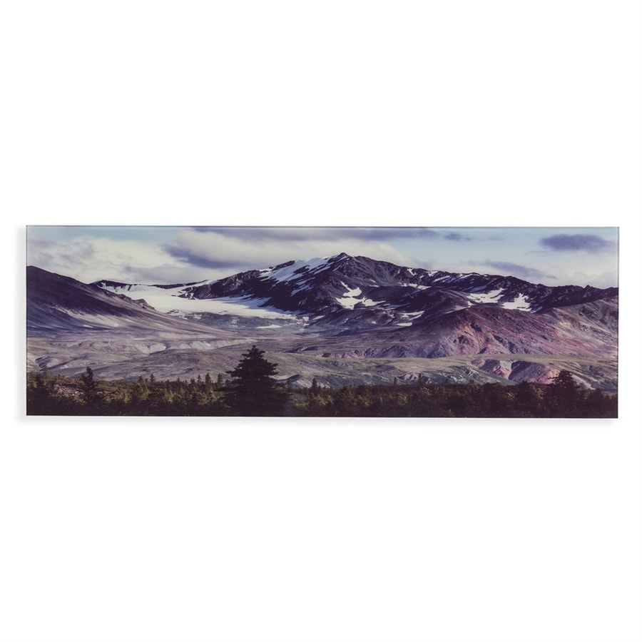 Boston Loft Furnishings 1-Piece 55-in W x 18-in H Glass Colorado Rockies Print Wall Art