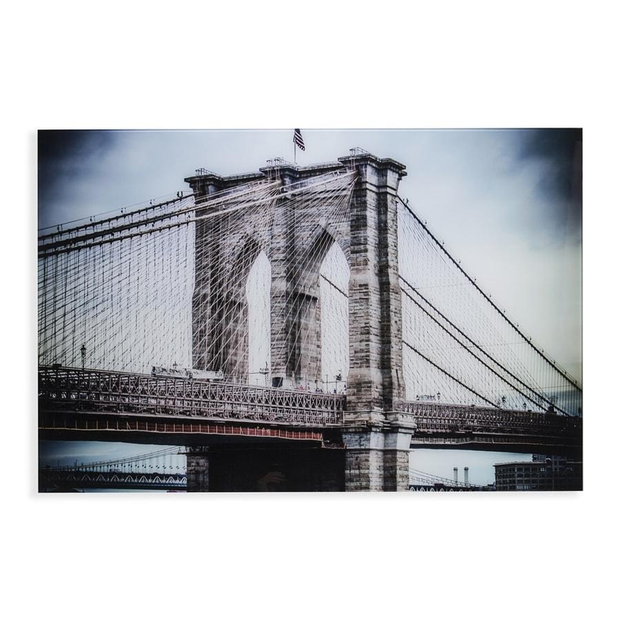 Boston Loft Furnishings Brooklyn Bridge 47-in W x 32-in H Frameless Glass Print Wall Art