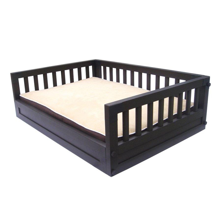 New Age Pet Espresso Black Polyester Rectangular Dog Bed