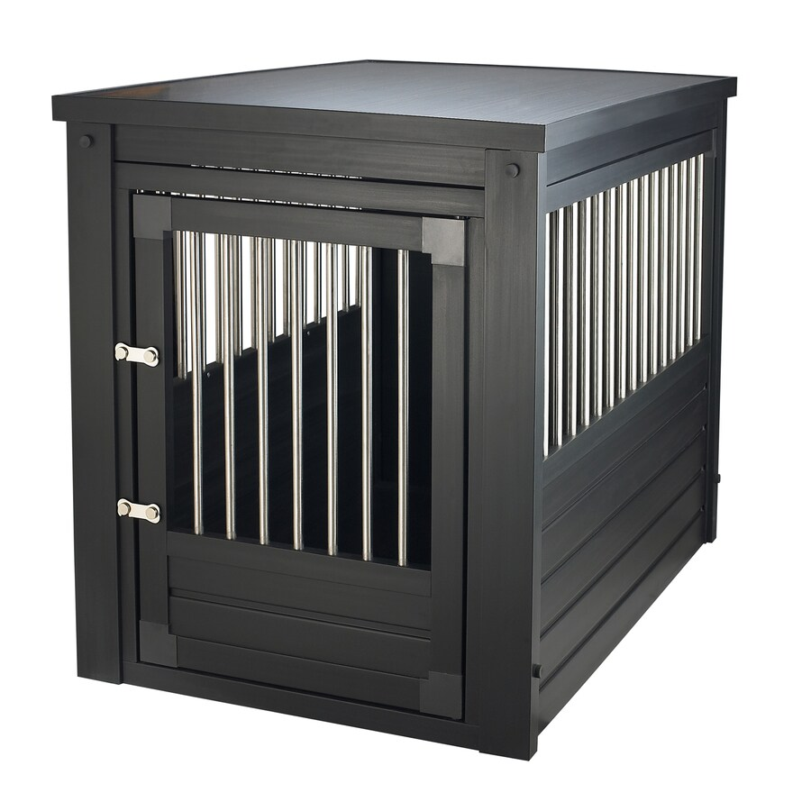 New Age Pet 3-ft x 2-ft x 2.3-ft Espresso Black Plastic Pet Crate
