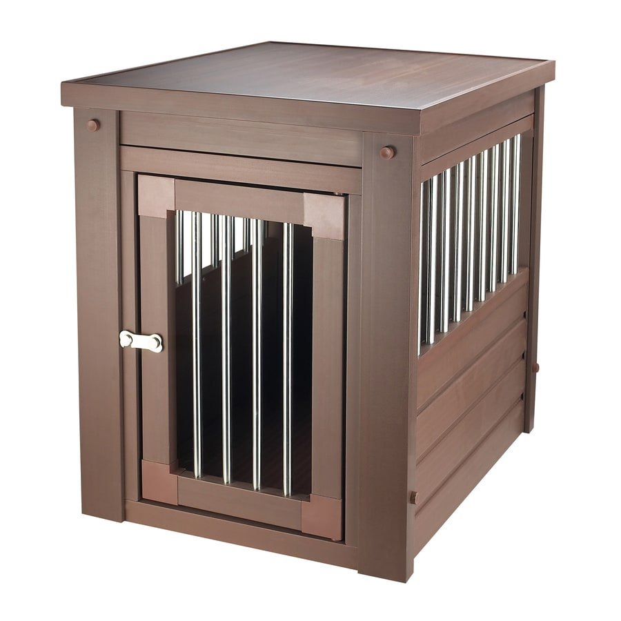 New Age Pet 1.9-ft x 1.5-ft x 1.8-ft Russet Brown Plastic Pet Crate